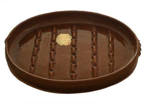 alfareria pereruela sxvi rainures barbecue ovale en terre. Black Bedroom Furniture Sets. Home Design Ideas